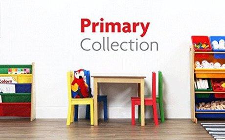 Amazon.com: Tot Tutors Kids Book Rack Storage Bookshelf, Natural/Primary (Primary Collecti