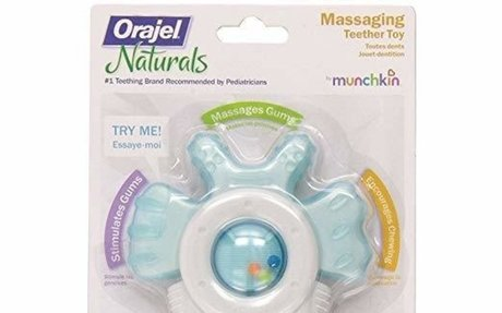 Amazon.com: Munchkin Orajel Massaging Teether (Assorted Colors. Color May Vary): Beauty
