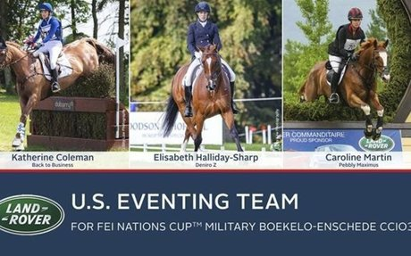Eventing: USEF Announces Land Rover U.S. Team for FEI Nations Cup Military Boeke