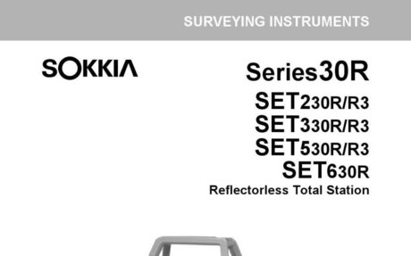 Sokkia SET 230-RS Total Station Operators Manual