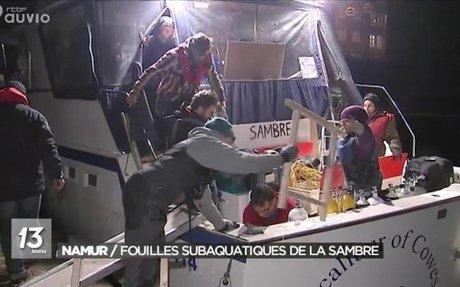 Namur : fouilles subaquatiques au Grognon - JT 13h - 31/10/2017