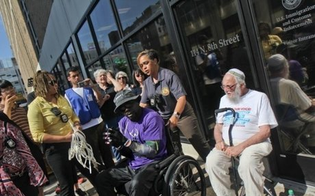 'Old Farts' group protest results in arrest of six at ICE in Philadelphia