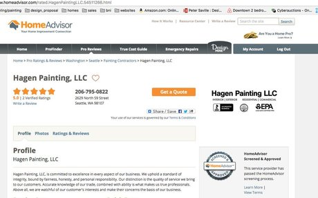 WE are on HomeAdvisor