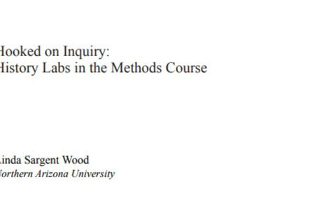 Hooked on Inquiry: History Labs in the Methods Course on JSTOR