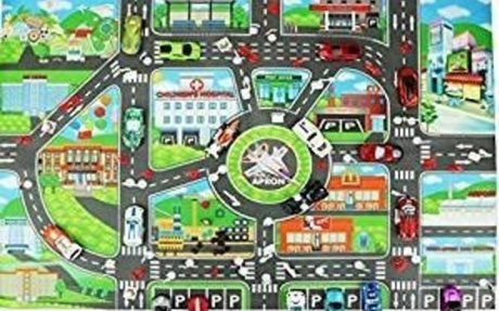 Amazon.com: Yesido. Children Play Car City Map Non Woven Fabrics With Route Parking Lot St