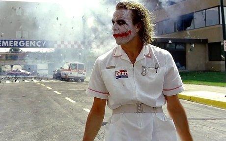 The Joker & Harvey Dent-(Two Face) - Hospital Scene The Dark Knight-(2008) Blu-ray 1080p