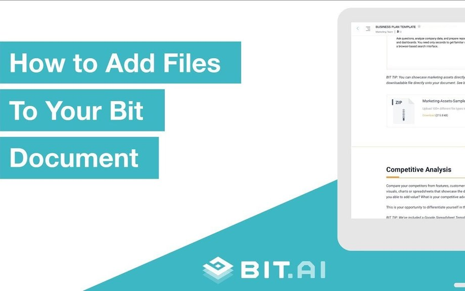 How To Attach Files To Your Document | Bit.ai | Smartest Documents on the Planet