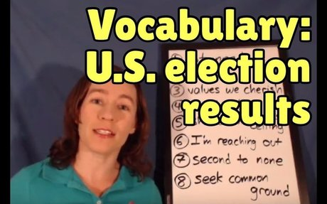 Learn English from the News - Vocabulary from the U.S. election results
