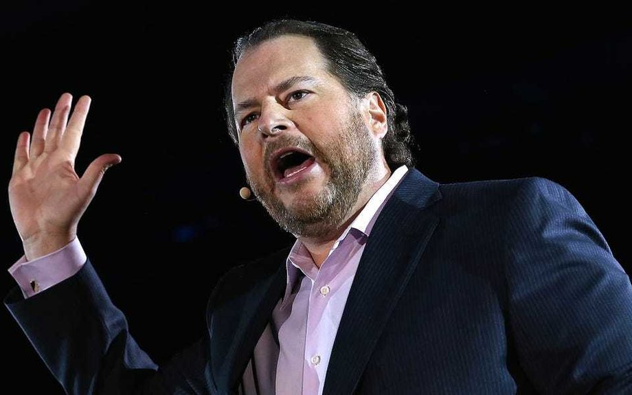 Salesforce encouraged employees to buy and expense co-CEO Marc Benioff's latest book to...