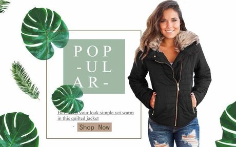 Amazon.com: Women's Hooded Jackets Winter Coats Faux Fur Quilted Down Jackets with Zipper: