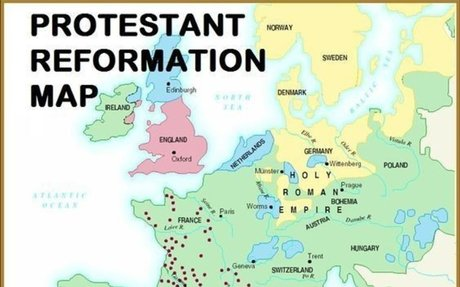 Protestant Reformation Map