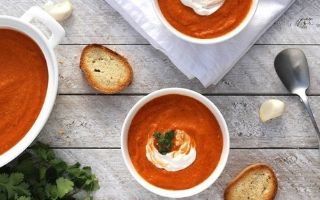 Roasted Tomato Chickpea Soup
