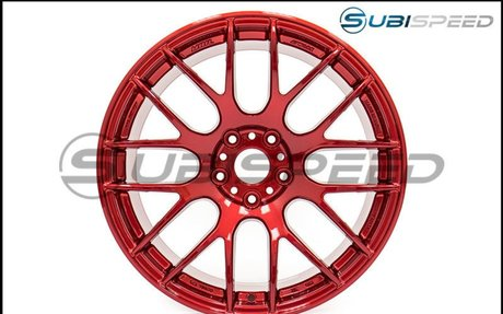 Work Emotion M8R 18x9.5 +38mm Candy Apple Red - 2015+ WRX / 2015+ STI
