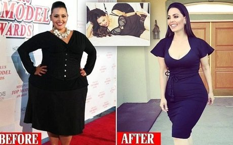 Plus-size model Rosie Mercado who lost weight has received DEATH THREATS from 'fat activis