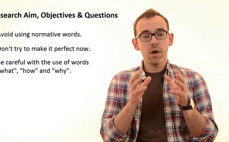 Research Aim, Questions and Objectives