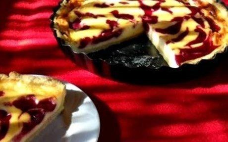 Házias konyha: Málnaörvényes-citromos pite