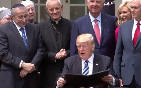 'Meaningless' or 'vigorous'? Conservatives divided on Trump's religious freedom order