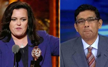 Dinesh D'Souza got a felony conviction for illegal campaign donations; will Rosie O'Donnel