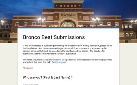 Bronco Beat Submissions