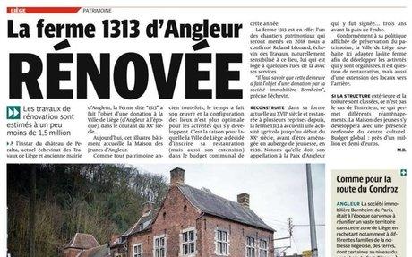 La ferme 1313 d'Angleur rénovée