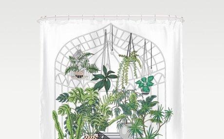 Cactus Greenhouse Shower Curtain
