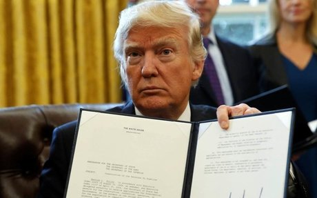 Here's the full list of President Donald Trump's executive orders