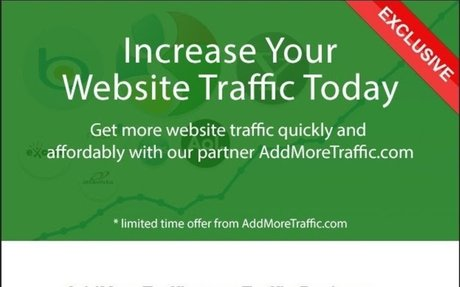 AddMoreTraffic Get started today and buy your website traffic quickly and affordably