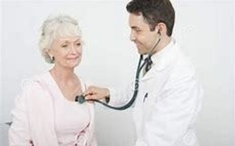 doctor with a stethoscope checking a patients heart - Bing images
