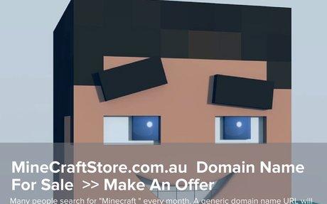MineCraftStore.com.au Domain Name For Sale
