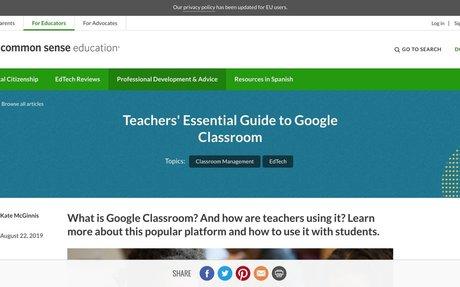Teachers' Essential Guide to Google Classroom | Common Sense Education