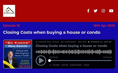 Closing Costs when buying a house or condo