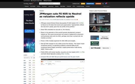8/3/2020: JPMorgan cuts FS KKR to Neutral