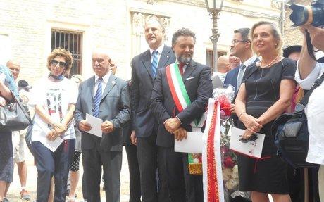 Anna Maria Anders nelle Marche per 73° anniversario della Liberazione di Loreto e Ancona