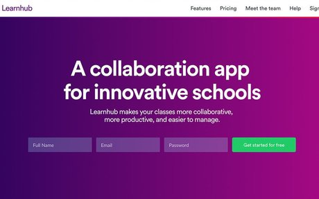 Learnhub: A collaboration app for innovative schools