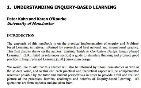 Understanding Enquiry-Based Learning - Peter Kahn and Karen O'Rourke