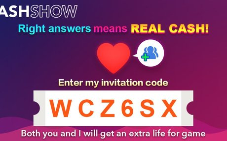 Cash Show Invite: Fun trivia game where players win real money