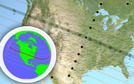 Solar Eclipse 2017 path mapped: Where will the solar eclipse head this year?
