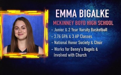 Scholar Athlete of the Week - Emma Bigalke