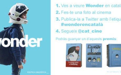 Ves a veure Wonder en català i tindràs premi!