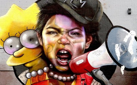 Lisa Simpson And Women's Rights Steal Show At Europe's Largest Street Art Event