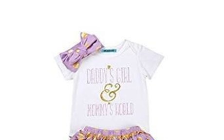 Amazon.com: Mornbaby Newborn Baby Girls Clothes Rompers+Ruffel Pants Shorts+Headband 3PCS