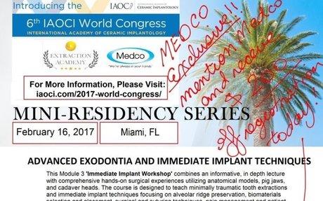 Mini-residency Series Advanced Exodontia and immediate implant techniques #Dentist #Dentis