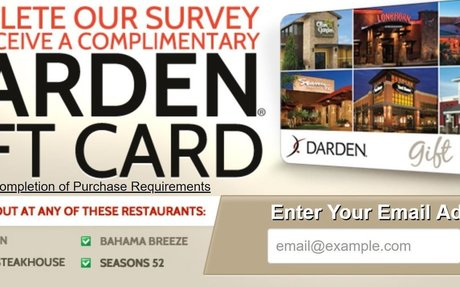 Get a FREE Darden's Gift Card