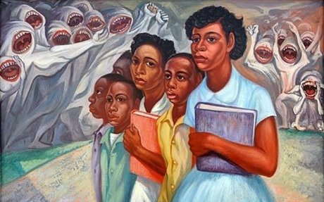 Incident at Little Rock by Domingo Ulloa, 1957