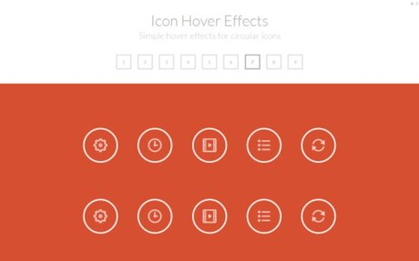 Simple Icon Hover Effect - 10 Styles