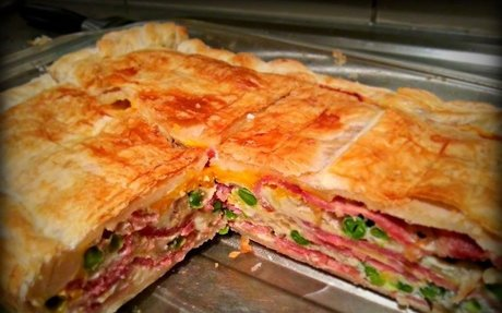 Easiest Bacon and Egg Pie