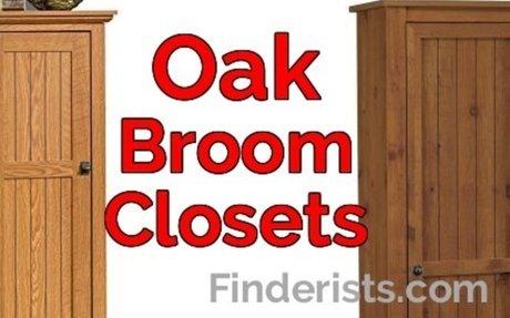 Oak Broom Closet Cabinet to Organize Your Stuff! - Finderists