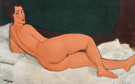 Controversial nude painting breaks auction record