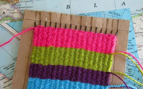 Weaving on a Cardboard Loom