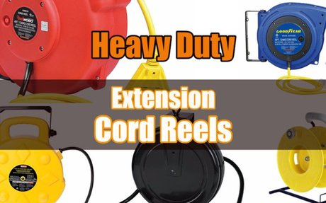 Heavy Duty Extension Cord Reels for the Shop or Garage